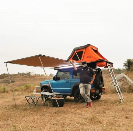 Aksesoris camping IRONMAN INSTANT AWNING WITH LED 2M X 2,5M  TAS 4X4<br> 1 jeep1